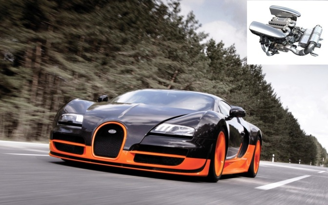 Bugatti Veyron Super Sport and its W16 engine